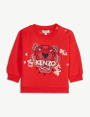 KENZO Floral tiger cotton-blend sweatshirt 6-36 months