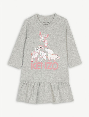 KENZO Animal friends cotton dress 3-36 months