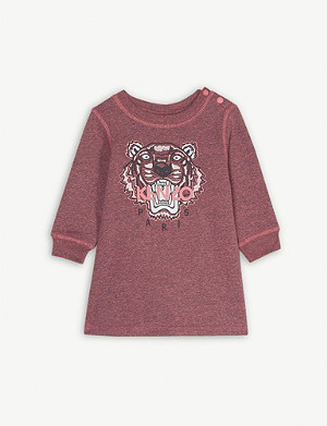 KENZO Tiger cotton jumper dress 6-36 months