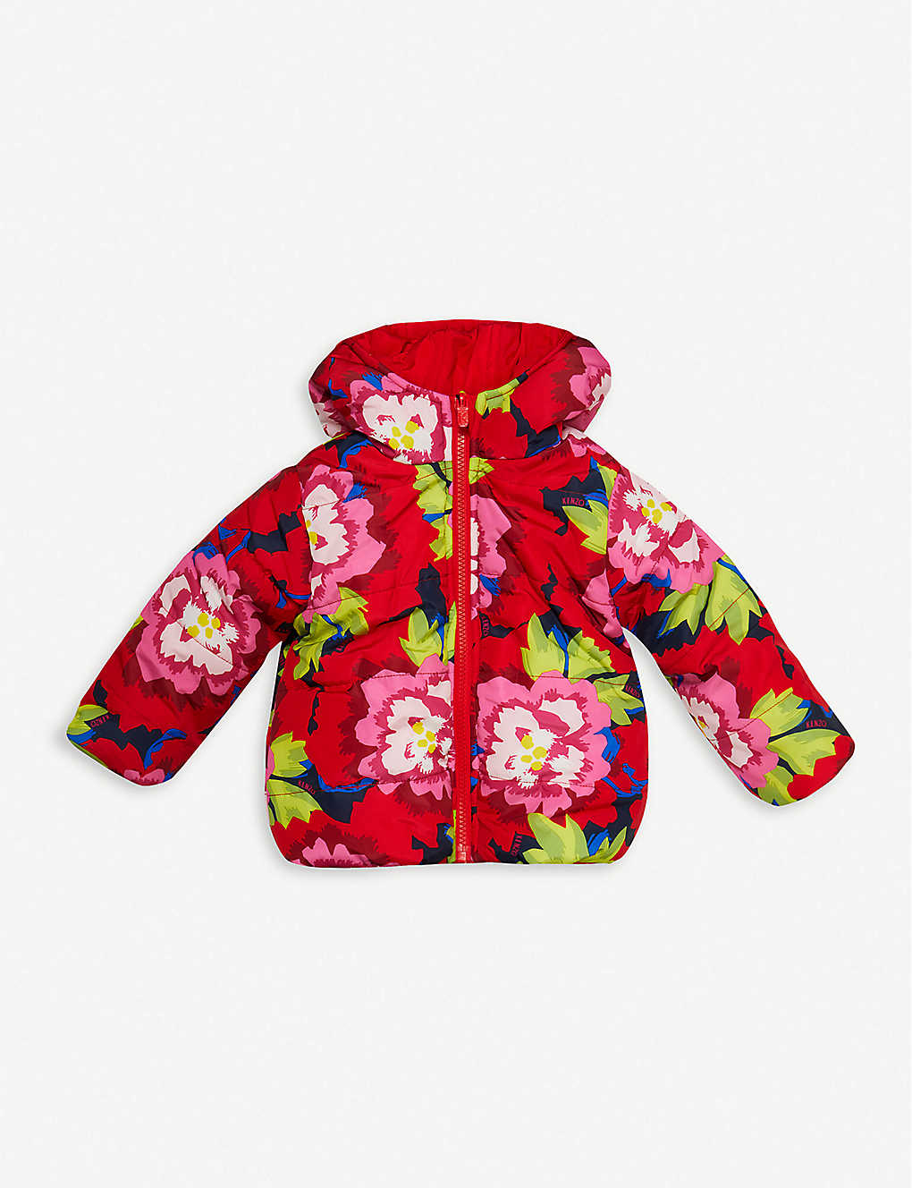 KENZO: Floral-print down-filled reversible shell jacket