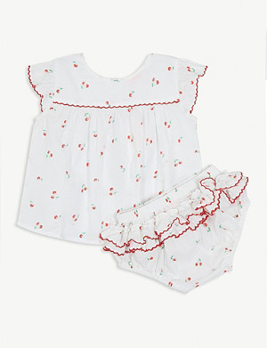 SUNUVA Cherry print cotton set 3-24 months