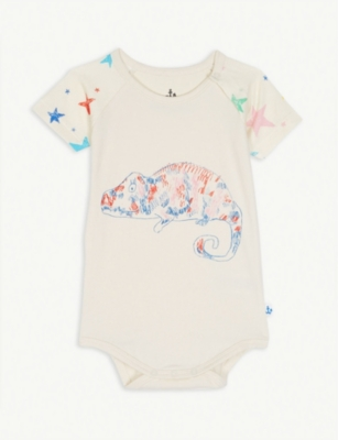 NOE & ZOE Parrot and dot print cotton bodysuit 0-18 months