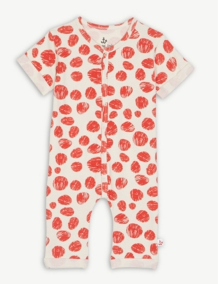 NOE & ZOE Sketched dot cotton sleepsuit