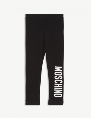 MOSCHINO Logo cotton-blend leggings 6-36 months