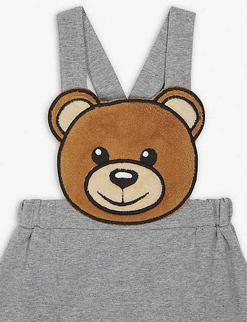 MOSCHINO Bear dungaree dress 3-36 months