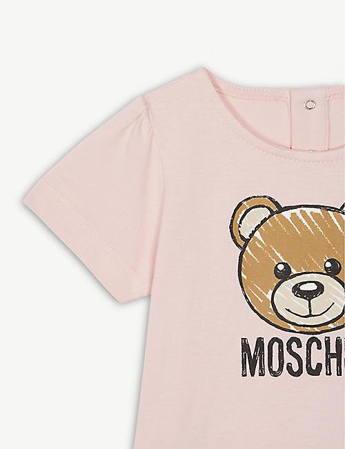 b2fde1ace6af MOSCHINO Teddy bear logo cotton-blend T-shirt 6-36 months