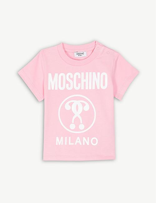 096e944e138fe3 MOSCHINO Milano logo cotton-blend T-shirt 6-36 months