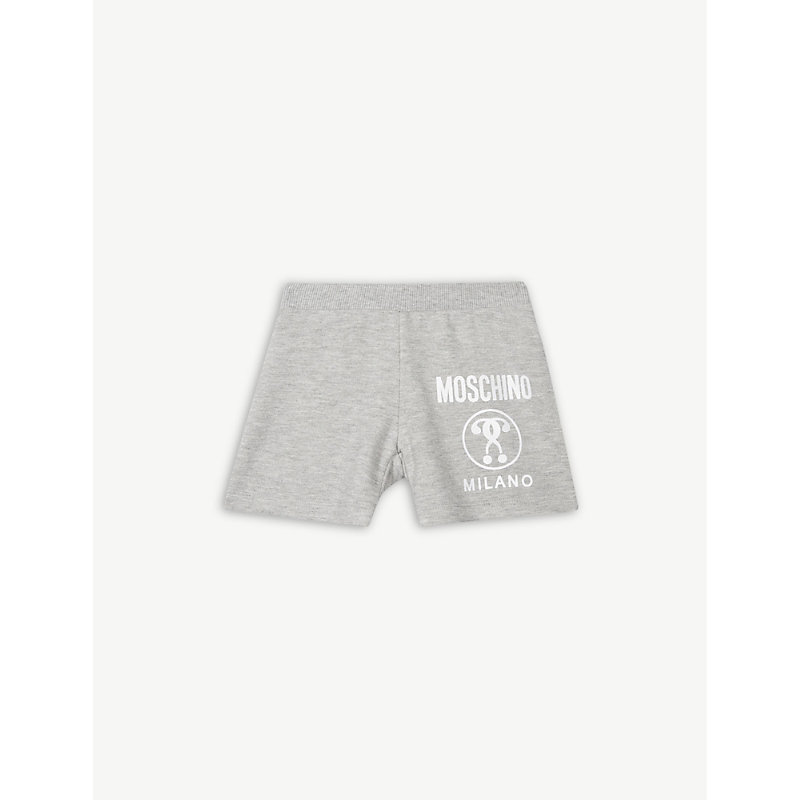 MOSCHINO | Question Mark Cotton Shorts 6 Months - 3 Years | Goxip