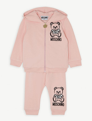 MOSCHINO Teddy cotton-blend tracksuit 3-36 months