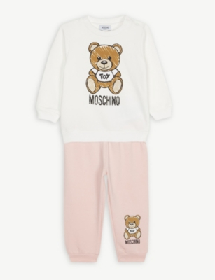 MOSCHINO Bear print cotton sweatshirt set 6 months - 3 years