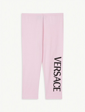 VERSACE Logo cotton-blend leggings 3-36 months