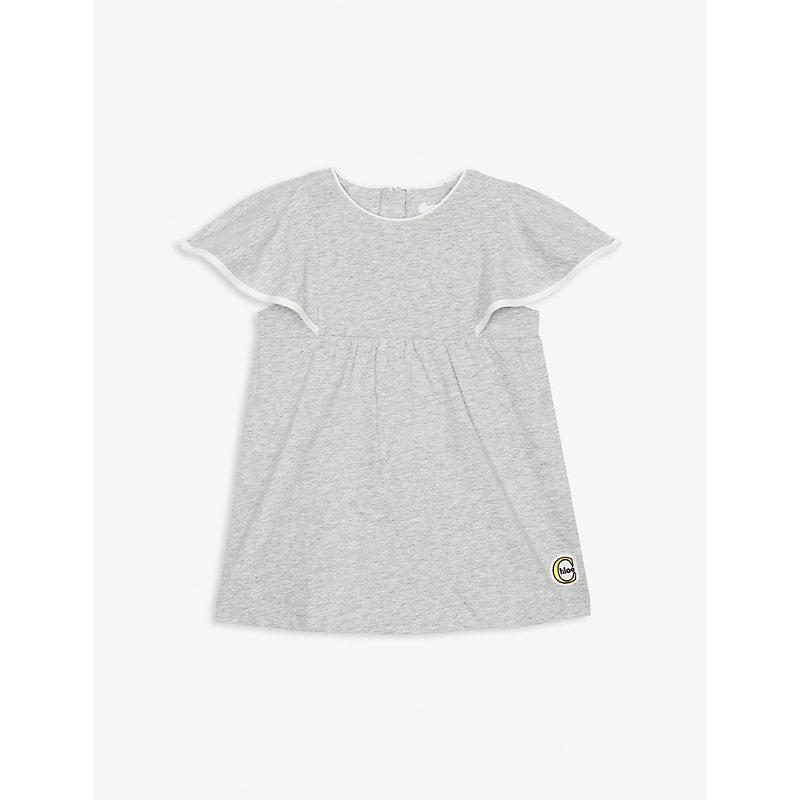 CHLOÉ | Angel Sleeve Cotton Dress 6-36 Months | Goxip