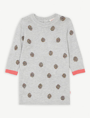BILLIE BLUSH Glitter polka dot sweater dress 6-36 months