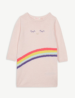 BILLIE BLUSH Rainbow print knitted jumper dress 2 months-2 years