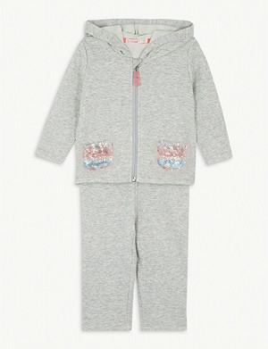 BILLIE BLUSH Sequin-embellished cotton-blend tracksuit 6-36 months