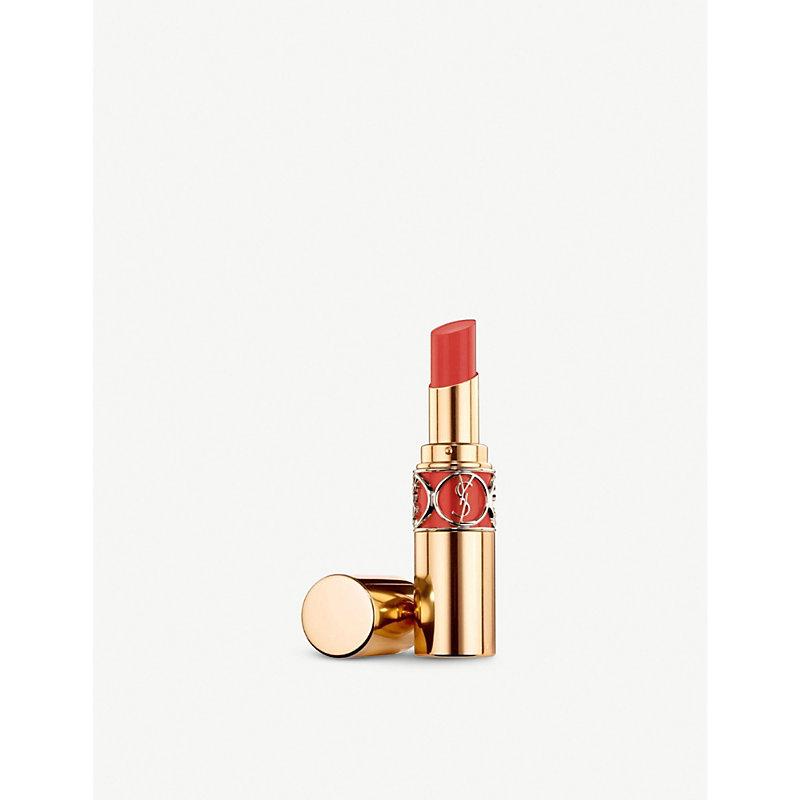 SAINT LAURENT | Yves Saint Laurent Rouge Volupté Shine Lipstick, Women'S, Orange Impertinent | Goxip
