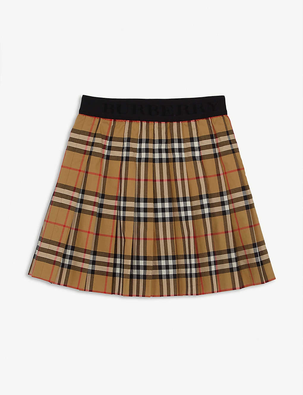 Burberry Tops Branded waistband cotton check skirt 6-8 years
