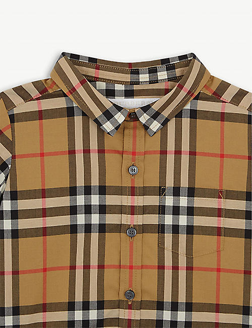 BURBERRY Fred checked cotton shirt 6-36 months