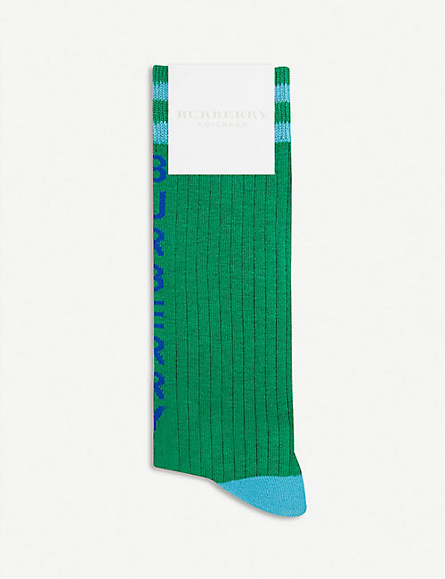 BURBERRY Team ribbed cotton socks