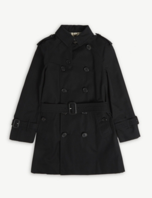 BURBERRY Wiltshere cotton trench coat 4-14 years