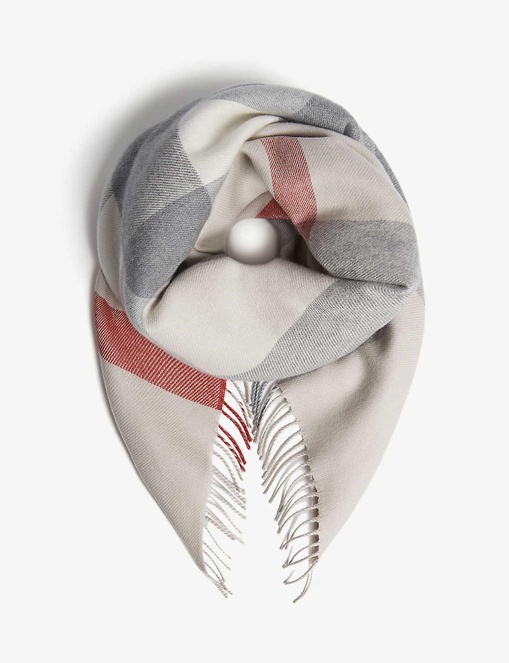 BURBERRY - Mega check merino-wool blanket   Selfridges com