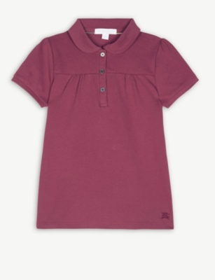 1b4a48f01 BURBERRY - Karley cotton polo shirt 4-14 years