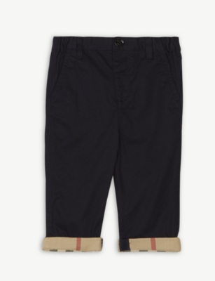 BURBERRY Ricky roll-up cotton trousers 6-36 months