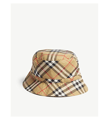 1fb39f425a7 ... BURBERRY Reversible cotton bucket hat (Antique+yellow. PreviousNext