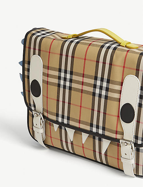 BURBERRY Monster checked satchel