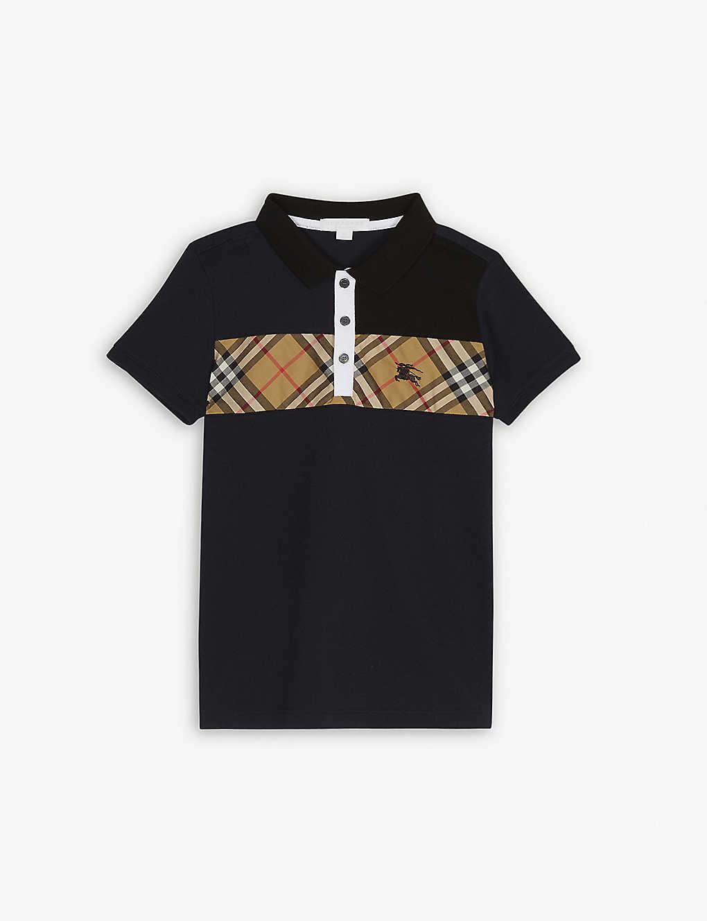788d8cd49 BURBERRY - Check print cotton polo shirt 4-14 years