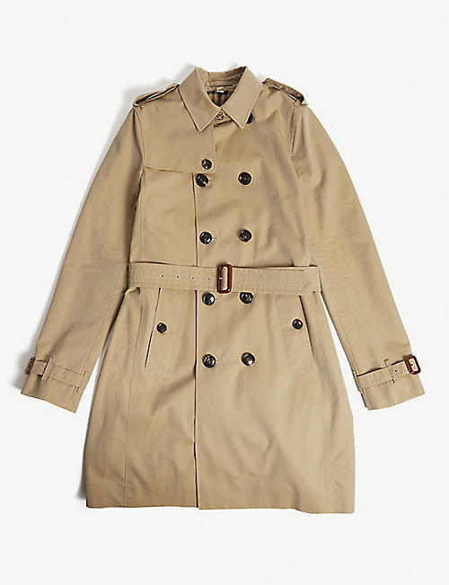 BURBERRY: Mayfair trench coat 3-14 years