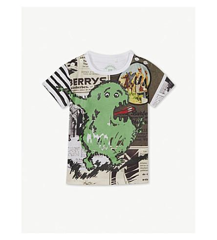 7902abb6c5e ... BURBERRY Monster print cotton T-shirt 6-36 months (White. PreviousNext