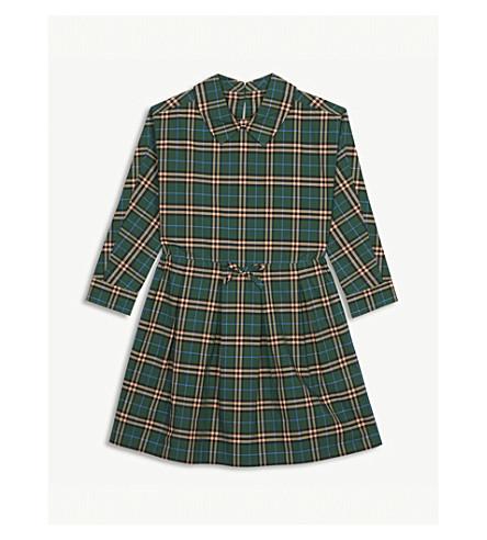 00bd94a25 BURBERRY - Check print cotton drawcord dress 4-14 years