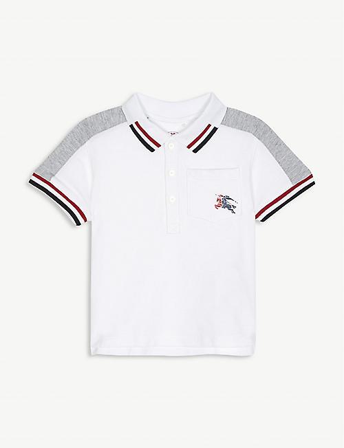 8d1ac7322c232 BURBERRY Kai striped cotton polo shirt 6-36 months
