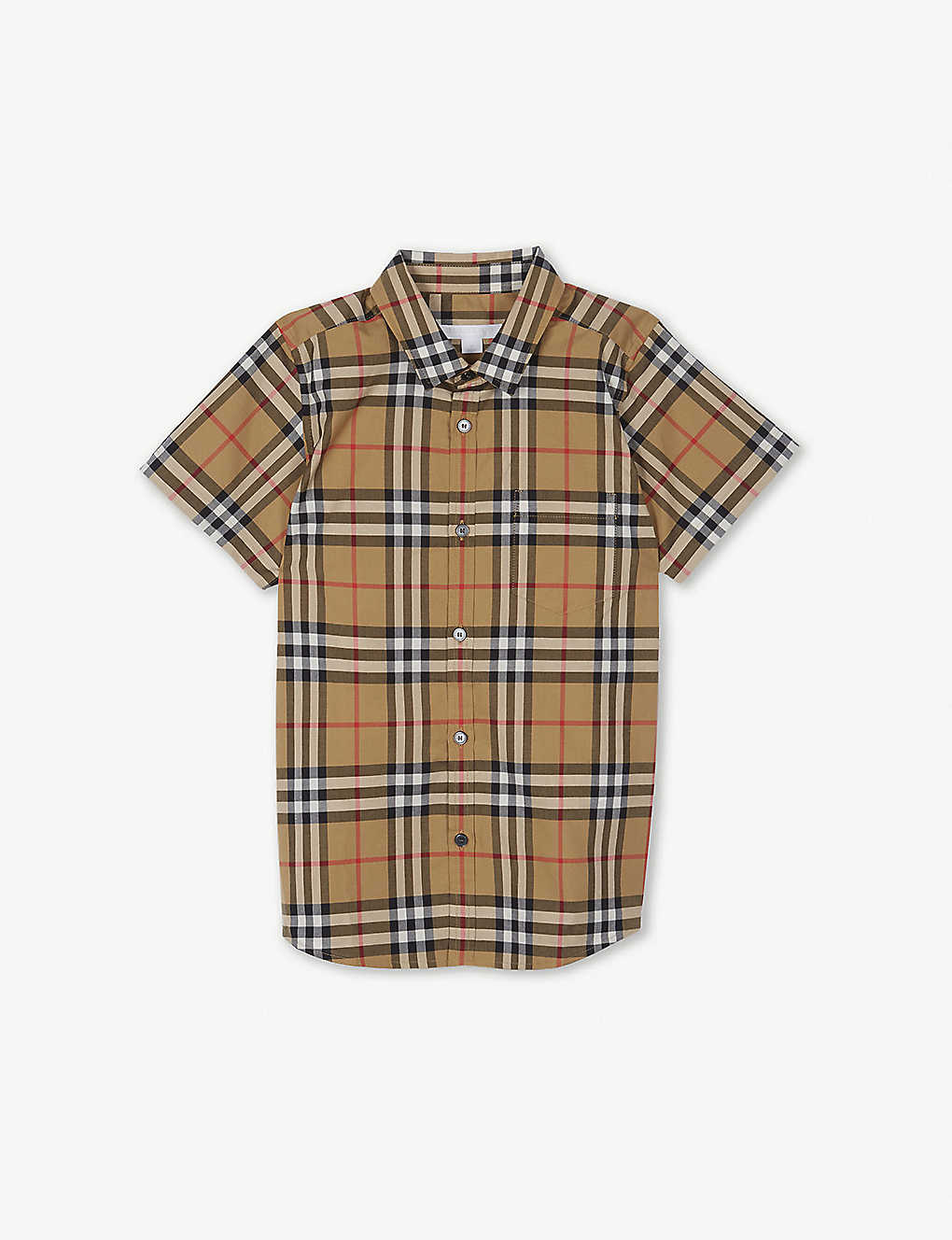 757a5aa28 Fred checked cotton shirt 4-14 years - Antique yellow ...