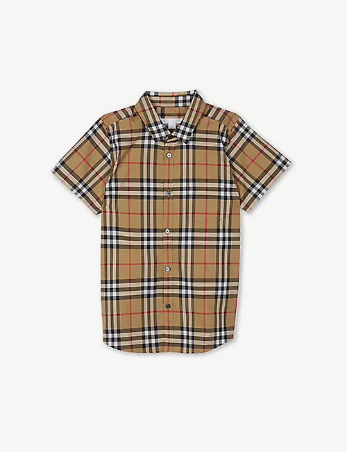 e1ba9b01098 BURBERRY Fred checked cotton shirt 4-14 years