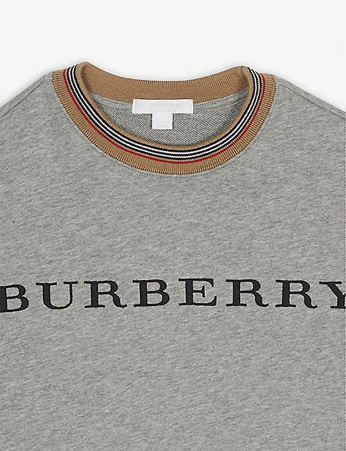 BURBERRY Logo cotton dress 4-14 years