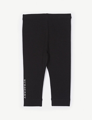 BURBERRY Pennie logo stretch-cotton leggings 6-36 months