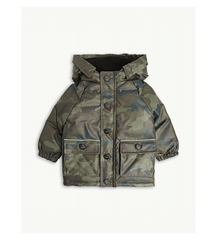 a595ad0dc562b BURBERRY Camouflage down-filled padded coat 6-36 months (Khaki