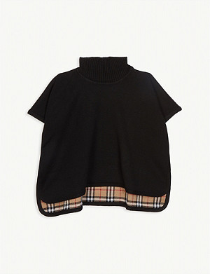 BURBERRY Beatrix reversible knitted cape