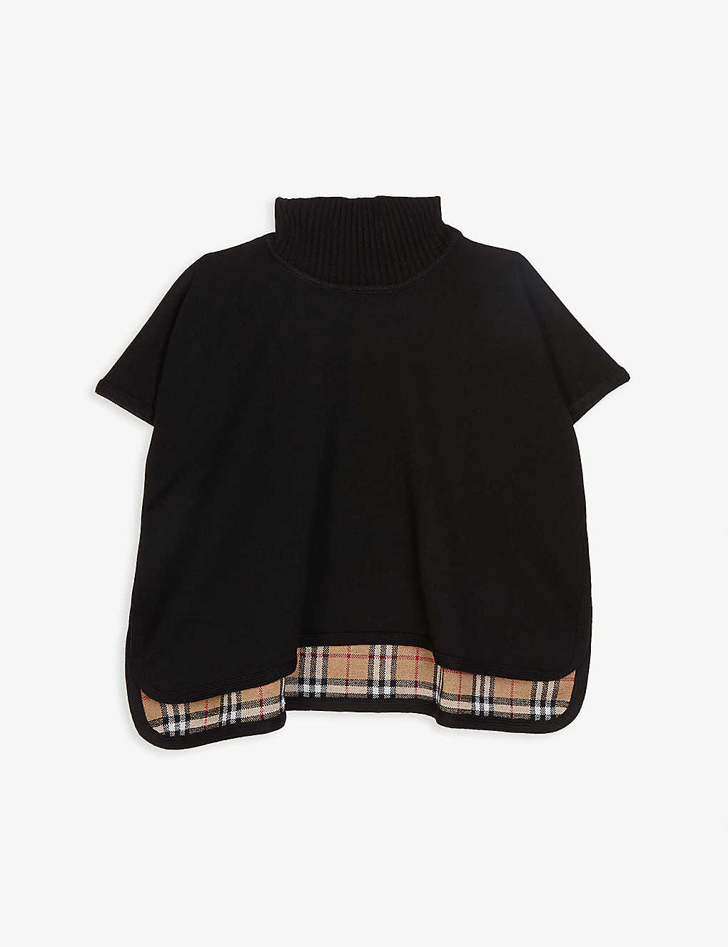 BURBERRY: Beatrix reversible knitted cape