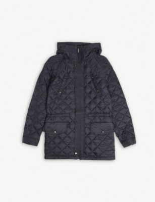 BURBERRY Quilted hooded jacket 3-14 years