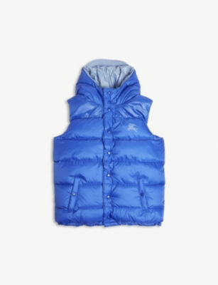 BURBERRY Reversible showerproof hooded gilet 3-14 years