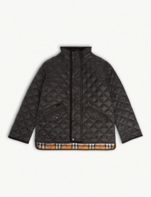 BURBERRY Brantley showerproof quilted jacket 3-14 years