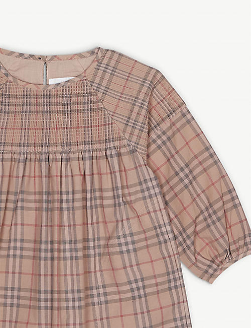 BURBERRY Loralie check cotton dress 3-14 years