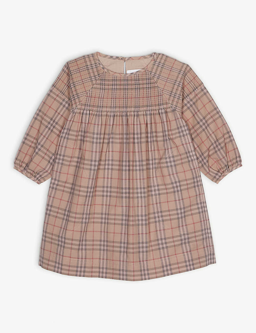 98a70cea4af08 BURBERRY - Loralie check cotton dress 3-14 years | Selfridges.com