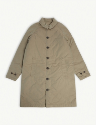 BURBERRY Long quilted cotton coat 10-14 years