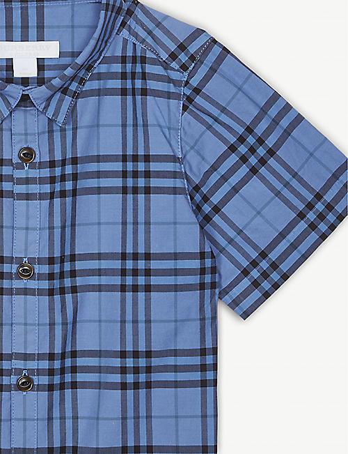 e524386d3c BURBERRY Sami check short-sleeved shirt 3-14 years