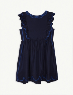BURBERRY Carrine embroidered ruffled silk dress 10-14 years