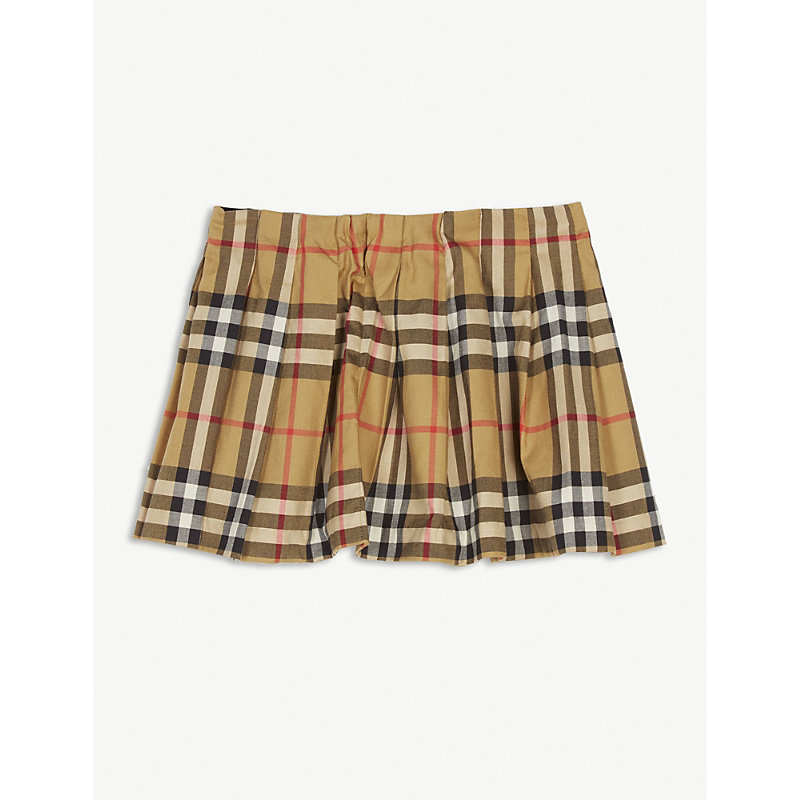 BURBERRY | Check Pleated Skirt 6-24 Months | Goxip